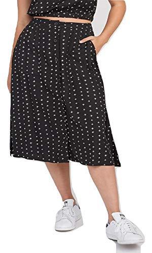 RVCA Junior's Dipper Woven Skirt, Black M