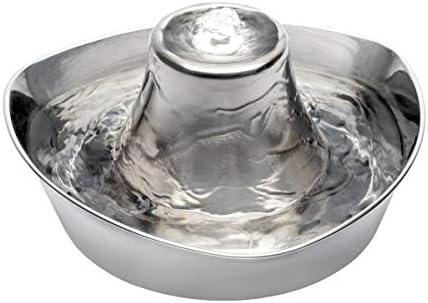 PetSafe Fuente para Mascotas Inoxidable Costa Calma De, Capacidad De 1,8 litros De Agua, Diseño Silencioso, Agua Filtrada, Anima A Las Mascotas A Beber Más Agua 1097 g