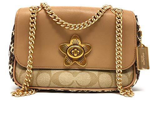 Coach Mini Cassidy Crossbody Satchel Handbag with Snake Embossed Leather F72624 (IM/LIGHT KHAKI BEECHWOOD/MULTI) ()