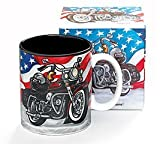 All American Motorcycle Coffee Mug/Cup for Kitchen...