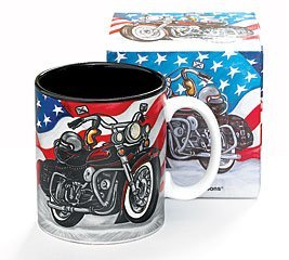 All American Motorcycle Coffee Mug/Cup for Kitchen Decor/Collectors ()
