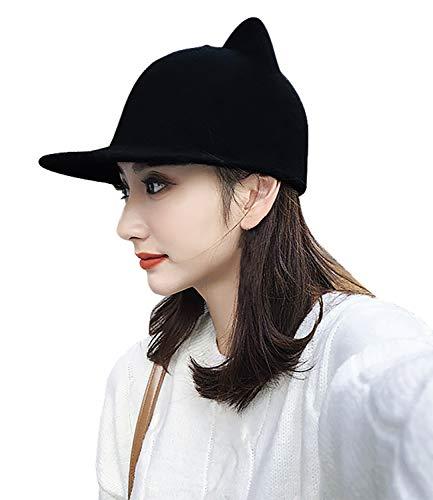 Bellady Women Cat Ear Woll Hat Baseball Hat