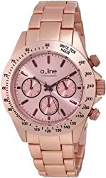 a_line Women's 20050-PN Amore Chronograph Pink Aluminum Watch