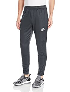 adidas Men's Soccer Tiro 17 Pants, Medium, Dark Grey/White