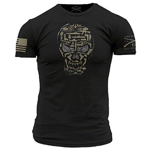 Grunt Style Gun Skull Men's T-Shirt
