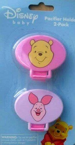 Disney Baby Winnie The Pooh Pacifier Holder 2 Pack - Pink ...