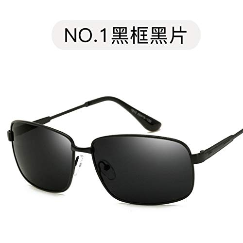 Gafas Gafas Sol Sol Pieza de metálicas gray polarizadas Burenqiq Negro para Gris de Sol Gafas frame de Retro polarizadas Hombre piece de Marco Black Gafas polarizadas conducción wqxxI7v