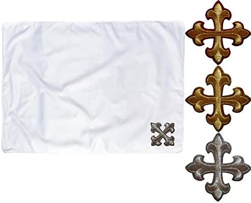 Baby Toddler Christening Baptism SWADDLING BLANKET Gold Silver Embroidery Cross