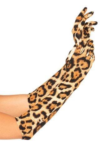 Leg Avenue Women's Leopard Elbow Length Gloves, Leopard, One (Leg Avenue Elbow)