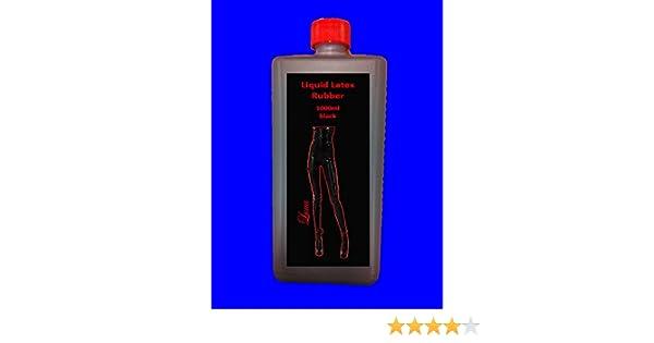 1 Liter de látex de colour negro de goma de látex de la leche de goma natural líquido de goma de la leche de látex ropa de látex ropa de jabón!: