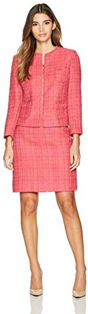 Tahari by Arthur S. Levine Women's Boucle Skirt Suit with