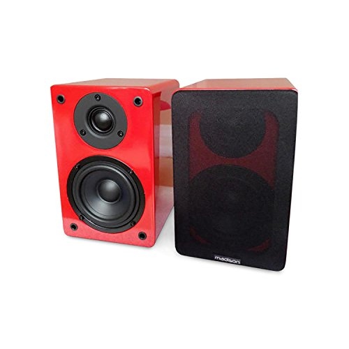 Madison 10 – 3076 mad-bs4bl luidspreker bibliotheek hifi rood