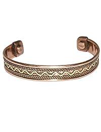 Crocon Om Namah Shivay Tibetan Copper Healing Bracelet Spiritual Devotional Adjustable Indian Jewellery
