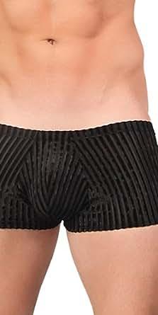 Male Power Burnout Velvet Short, Black, X-Large