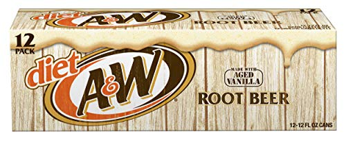 Diet A&W Root Beer, 12 fl oz cans, 12 count ()