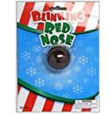 "Blinking Light up Flashing Red ""Rudolph"" Nose"