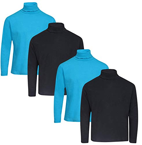 dELiAs Girl\'s Solid Long Sleeve Turtlenecks, Black/Blue, Size ()
