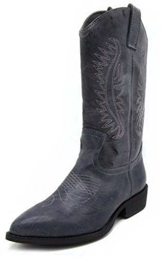 Rampage Womens Wamblee Cowboy Western Mid Shaft Boot 7 Blue Grey