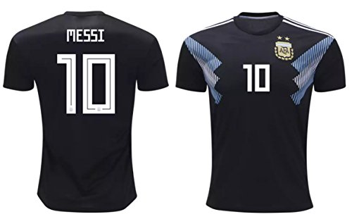 Lionel Messi #10 Argentina Soccer Jersey Away Adult Men's Sizes Football World Cup Premium Gift (L, Lionel Messi)