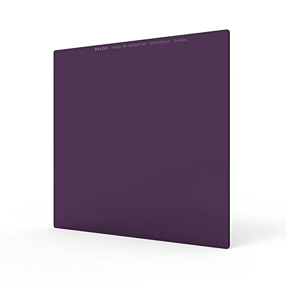 NiSi 100X100mm Square Neutral Density Filter,IR ND64(1.8), ND 6 Stops 100mm System Optical Glass for 52mm,55mm,58mm,62mm,67mm,72mm,77mm,82mm lens,compatible with Lee Cokin Hitech Singh-Ray Filters at amazon