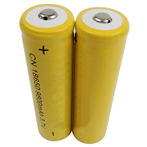 2-Pack 16850 Rechargeable Batteries - 3.7V Li-ion Rechargeable 18650 Battery For Flashlight Torch - Battery Pack - Flashlight Rechargeable