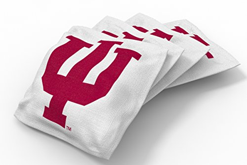 - Wild Sports NCAA College Indiana Hoosiers White Authentic Cornhole Bean Bag Set (4 Pack)