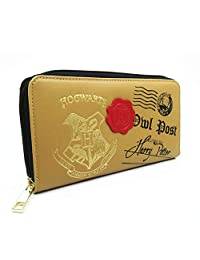 Women's Wallets Compatible for Harry Potter Hogwarts 9 3/4 Badge Tri-fold Wrist band Clutch Credit Card Holder Wallet