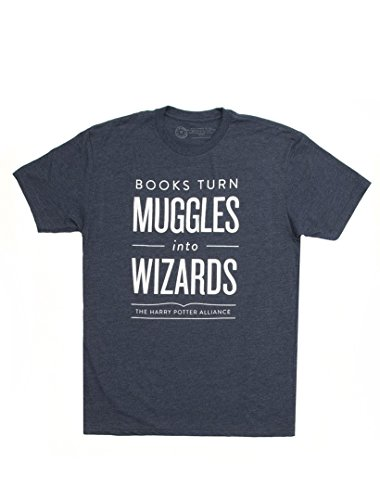 Out of Print Unisex Books Turn Muggles Into Wizards T-Shirt X-Large
