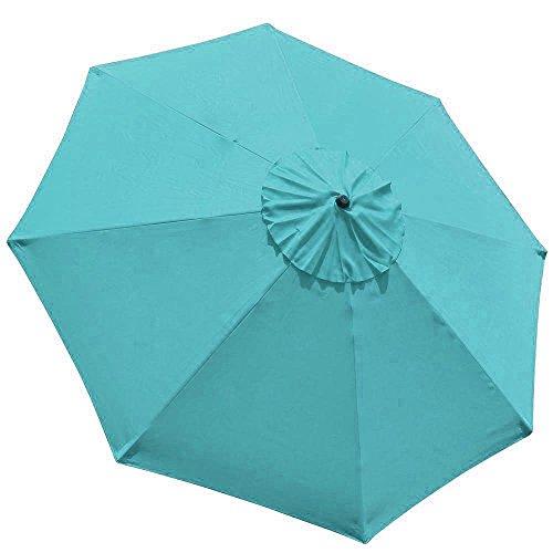 EliteShade 9ft Patio Umbrella Market Table Outdoor Deck Umbrella Replacement Canopy (Turquoise) by EliteShade (Image #4)