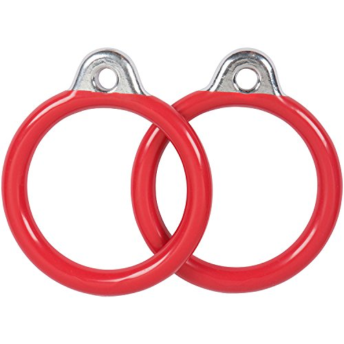 Swing Set Stuff Commercial Round Trapeze Rings with SSS Logo Sticker, Red Swing Set Stuff - DROPSHIP SSS-0015-R