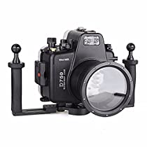 EACHSHOT Waterproof Underwater Camera Housing Case Diving Equipment 60m/195ft for Nikon D750 + Two Hands Aluminium Tray