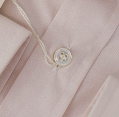 brioni Pink Cotton Slim Fit Dress Shirt Size 44 EU 17.5 US