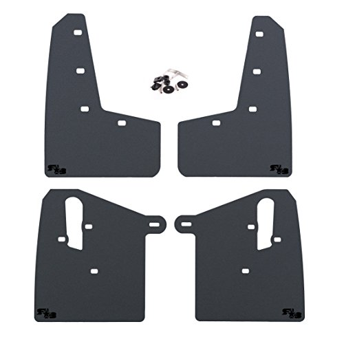 RokBlokz Mud Flaps for 2015+ Subaru WRX STI - Multiple Colors Available - Includes All Mounting Hardware (Black with Black Logo, Original) (Best Winter Tires For 2019 Wrx)