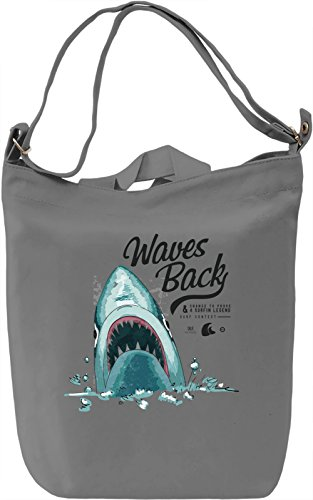 Waves back Borsa Giornaliera Canvas Canvas Day Bag| 100% Premium Cotton Canvas| DTG Printing|