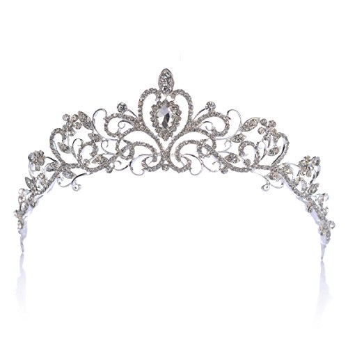 Topwedding Rhinestones Wedding Crown Crystal Bridal Tiara Headpiece Headband Hair Jewelry Women Girls ()