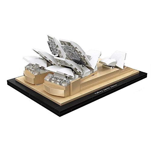 Building Blocks Architecture Sydney Opera House World Famous Building Set Model Construction Toy DIY Assembly Constructor Kit Toy Gift for Kids boy Girl - 277pcs (Building A Masterpiece The Sydney Opera House)