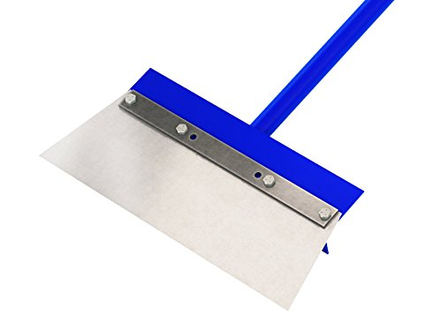 Bon 15-158 14-Inch Steel Floor Scraper with Angle Cut Blade 60-Inch Steel Handle