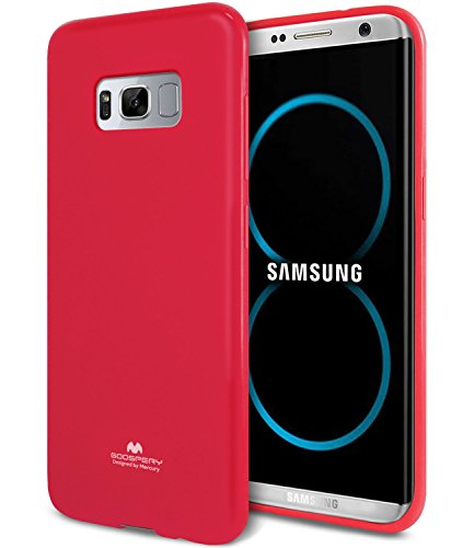 Galaxy S8 Case, [Thin Slim] GOOSPERY [Flexible] Pearl Jelly Rubber TPU Case [Lightweight] Bumper Cover [Impact Resistant] for Samsung Galaxy S8 (HOT Pink) ()