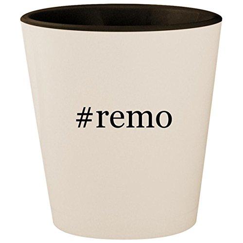 (#remo - Hashtag White Outer & Black Inner Ceramic 1.5oz Shot Glass)
