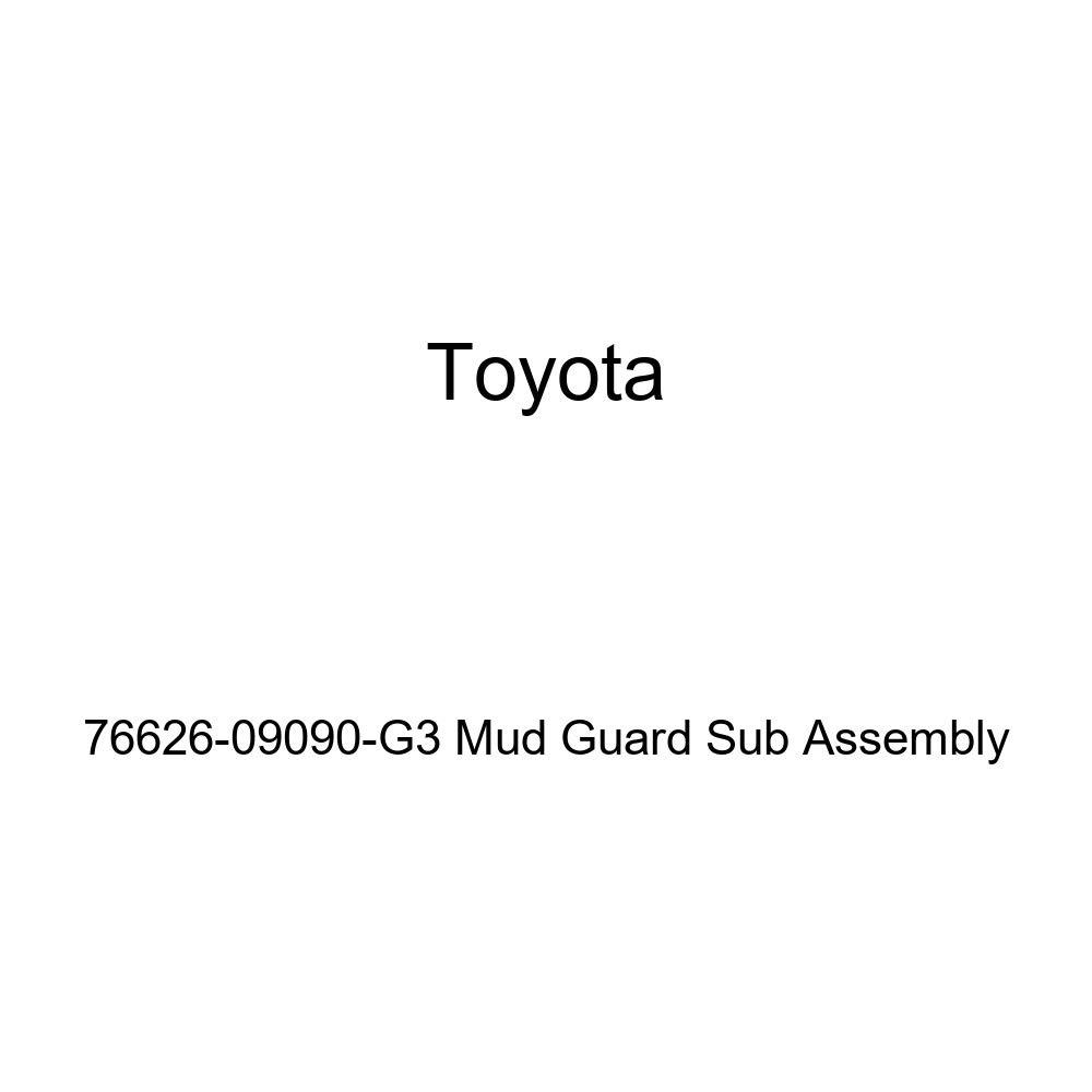 TOYOTA Genuine 76626-09090-G3 Mud Guard Sub Assembly