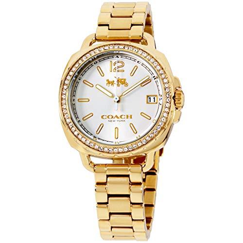 - Coach Women's 14502589 Tatum Gold Tone Stainless Crystal Glitz Watch