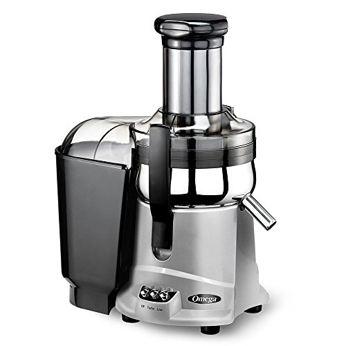 Omega Juicers OMG500SX Mega Mouth Centrifugal Juicer, Silver (Certified Refurbished)