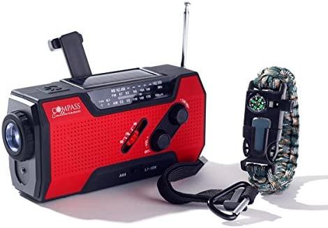Compass Culture Brand Radio meteorológica de NOAA de Solar y ...