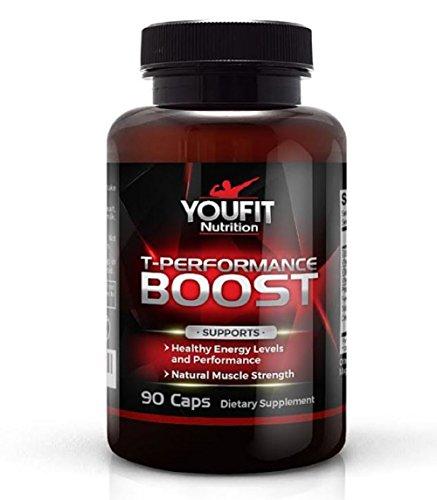 YOUFIT NUTRITION Booster de testostérone, Supplément, meilleur Booster de testostérone chez les hommes avec le fenugrec, la force et la croissance musculaire, augmente l'énergie et la Libido, gestion du poids, comte 90