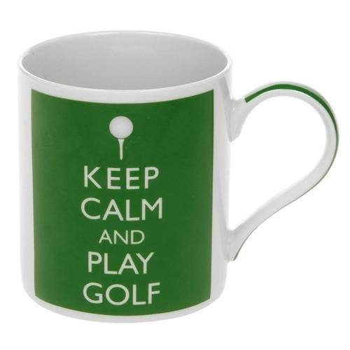 Lesser & Pavey Premium Keep Calm and Play Golf Funny Tea and Coffee Mug - Perfect Ceramic Mug for Golfer Men and Women