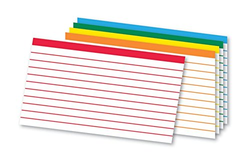 - Office Depot Color-Coded Ruled Index Cards, 3in. x 5in, Assorted Colors, Pack of 100, OD04753