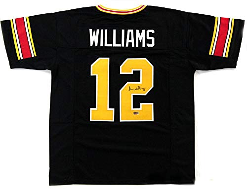 Autographed Doug Williams Jersey - Grambling State Tigers Throwback Custom Black - Autographed NFL Jerseys