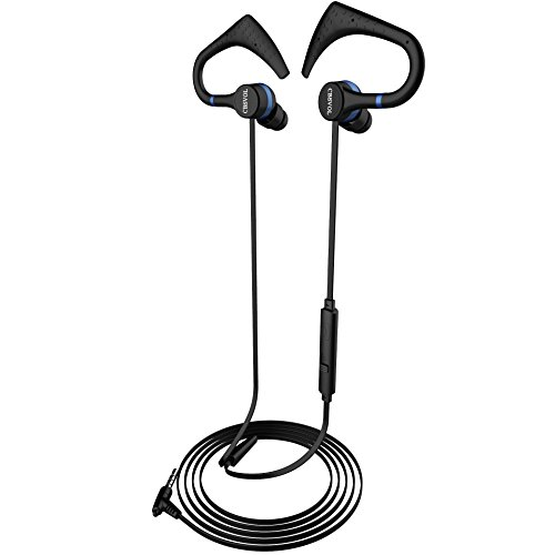cbsvol in ear stereo headphones with remote wired earhook