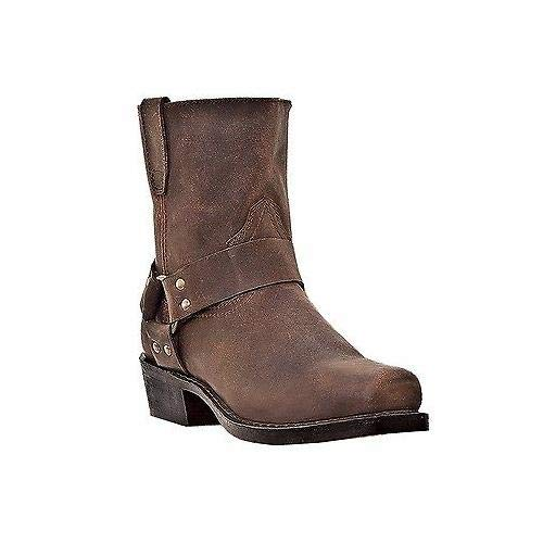 (Dingo Mens Gaucho Nutty Mule Leather Rev-Up 7in Harness Cowboy Boots 16)