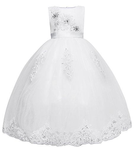 Amberry Little Girls Embroidered Flower